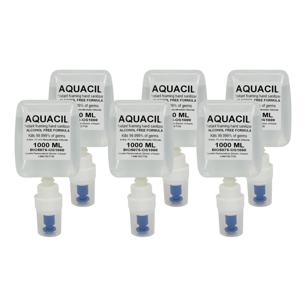 Aquacil Non Alcohol Hand Sanitizer 6/1000ml