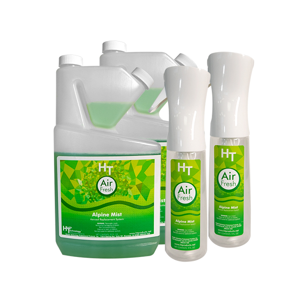 HT Air Fresh Alpine Mist Two Quarts and Two Sprayer Case