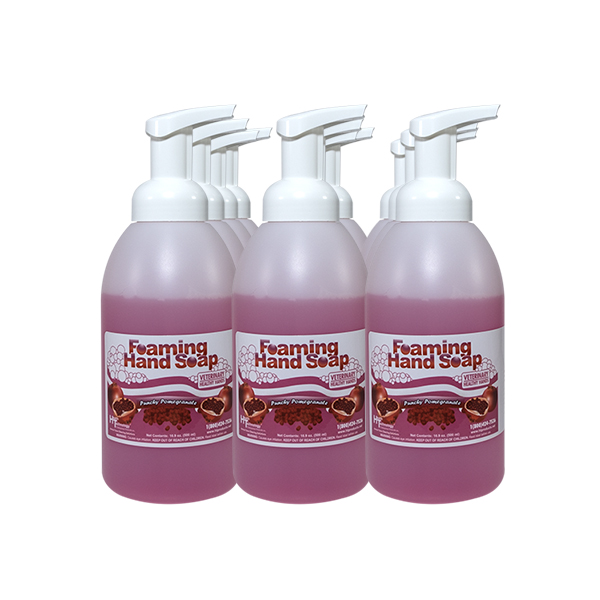 Veterinary Healthy Hands Punchy Pomegranate 12/16oz Pump Case