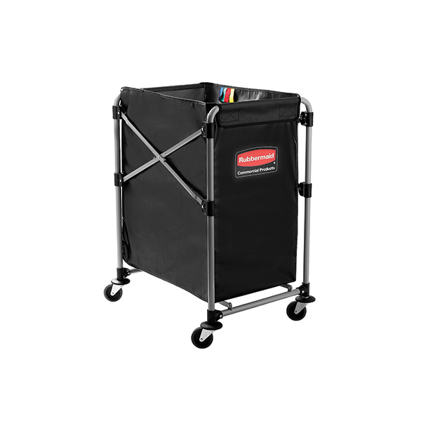Rubbermaid Commercial Collapsible 4 Bushel 24x20 Laundry Cart