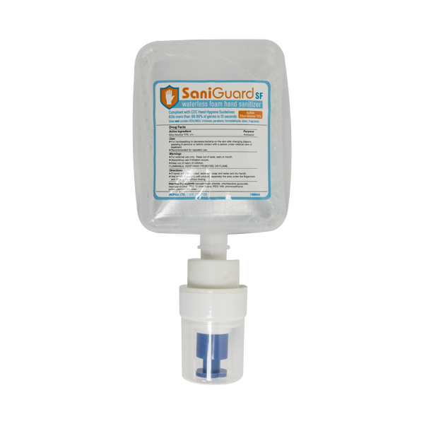 SaniGuard Waterless Foaming Hand Sanitizer 1000ml