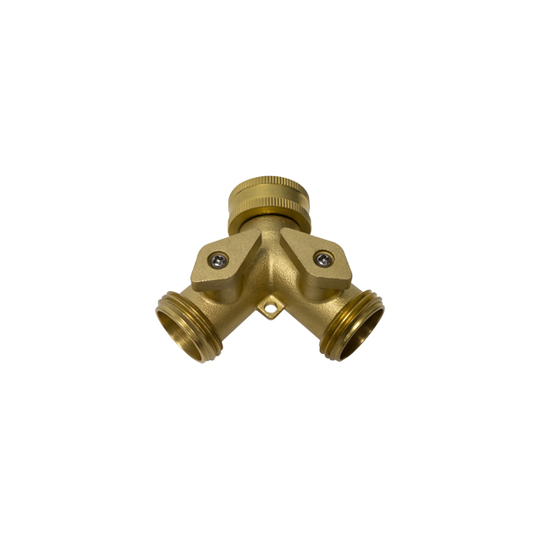 Brass Y Split Hose Connector